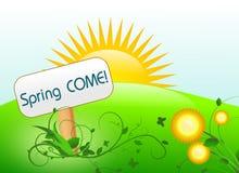 Spring landscape come Stock Image