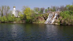 Spring landscape with Dnepr river stock footage