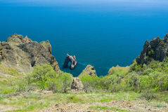 Spring landscape with famous Golden Gate volcanic rock Stock Image