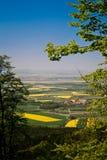 Spring landscape, fields Stock Photos