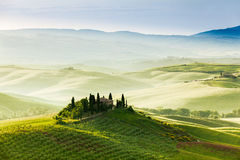 Spring landscape of fields Tuscany Royalty Free Stock Images