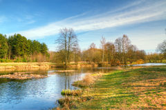 Spring landscape HDR Royalty Free Stock Image