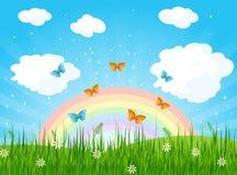Spring Landscape. Illustration of a spring landscape Stock Images