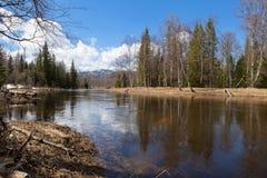 Spring landscape Inzer River South Ural Royalty Free Stock Images