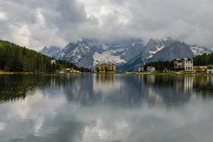 Misurina Lake,I taly stock image