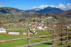 Spring landscape in the mountains of Romania Stock Photo
