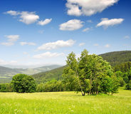 Spring landscape. In the national park Sumava - Czech Republic Royalty Free Stock Photo
