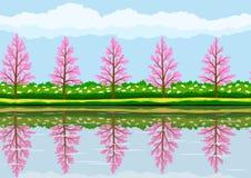 Spring landscape pattern Stock Photo