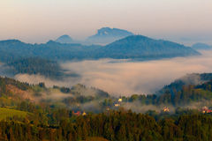 Spring Landscape of Pieniny Royalty Free Stock Images