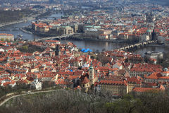 Spring landscape of Prague Royalty Free Stock Photos