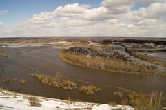 Spring landscape with river Stock Photography