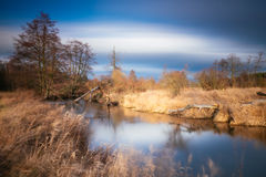 Spring landscape and river Royalty Free Stock Images