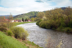 Spring landscape with a river Stock Image