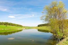 Spring landscape. Russia. Orel region. Stock Photo