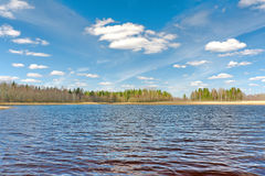 Spring landscape. Russia. Tver region. Royalty Free Stock Photo