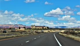 Landscape Scenery, Interstate 17, Phoenix to Flagstaff, Arizona, United States. Spring landscape scenery view of the mountains and area vegetation from stock images