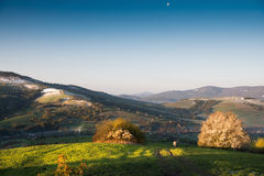 Spring landscape of small village Stock Photo