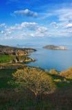 Spring landscape surrounding area of Nakhodka Bay. Stock Images