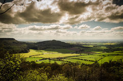 Spring landscape. Landscape in spring time from high up on a hill Stock Photo