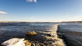 Spring landscape on the Ural river with a rollover, Russia Stock Photos