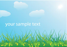 Spring landscape vector Stock Photos