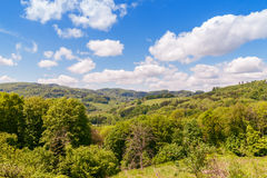 Spring landscape. View of Spring landscape in Odenwald, Germany Stock Photo