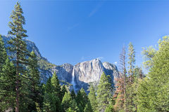 Spring landscape of Yosemite valley with waterfall Royalty Free Stock Photo