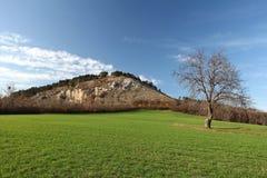 Spring landspace with mountains Stock Photos