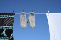 Spring laundry Stock Image