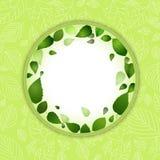 Spring leaf border background Stock Images