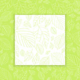 Spring leaf design panel background Stock Images