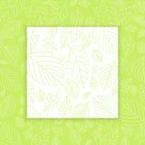 Spring Leaf Design Panel Background Stock Images
