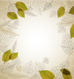 Spring leafs abstract background. With place for your text vector illustration