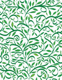 Spring leaves. Green leaves and branches seamless pattern stock illustration
