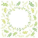 Spring leaves background vector illustration