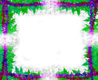 Spring leaves [maple] Border frame on white Royalty Free Stock Photo