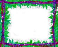 Spring leaves [maple] Border frame on white Royalty Free Stock Images