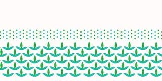 Spring leaves seamless border pattern. Stylized retro edging. Pretty modern feminine nature fashion band. Trendy fresh. Leaves seamless border pattern. Stylized vector illustration