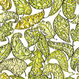 Spring leaves seamless pattern. Stock Photo