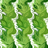 Spring leaves seamless pattern Stock Photography