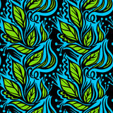 Spring leaves seamless pattern Royalty Free Stock Images