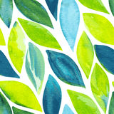 Spring leaves seamless pattern Stock Image