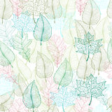 Spring leaves seamless pattern. Vector illustration in eps8 format Stock Photo