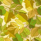 Spring leaves seamless pattern Stock Photo