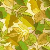 Spring leaves seamless pattern stock illustration