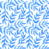 Spring leaves seamless watercolor pattern-model for design of gi Royalty Free Stock Photography