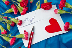 Spring Letter Stock Image