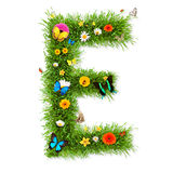 Spring letter E Royalty Free Stock Image