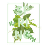 Spring letter with leaves Royalty Free Stock Images
