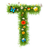 Spring letter T Stock Image